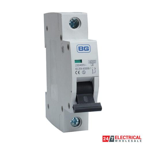 BG Single Pole MCB Type B 6 A 10 A 16 A 20 A 32 A 40 A 50 A Consumer unité Breaker Cumb