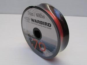 WARBIRD-SHOCK-LEADER-60-lb-ORANGE-LINE-4-BEACHCASTER-amp-MULTIPLIER-REELS-SEA-RIGS