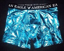 MENS AMERICAN EAGLE CLASSIC TRUNK METALLIC BLUE BOXER BRIEF SIZE L (35/38)