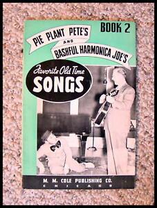 """CompéTent Sérieux Collectionneurs 1938 """"pie Plant Pete Et Pudique Joe's"""" Harmonica Chansons.-afficher Le Titre D'origine"""