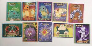 Lot-de-10-cartes-Postales-officielles-Pokemon-Nintendo-2000