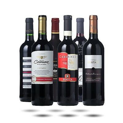 Red Wine Case - World Cabernet Sauvignon Selection. 6 bottles of Great Red Wine!