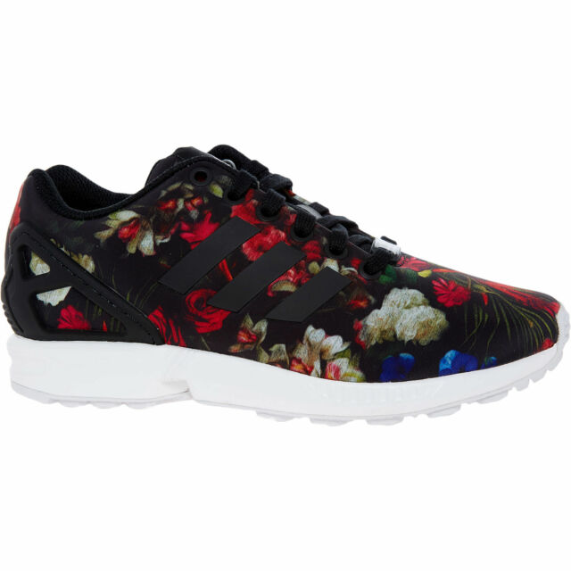 hot sale online 86c0b 4c2f4 ADIDAS ORIGINALS ZX FLUX Women's Floral Trainers Sneakers sizes UK  4/4.5/5/5.5