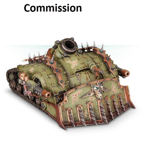 Plagueshurg Crawler död Guard Commission  Superbelly Målad Warhammer 40K