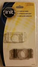Init 2 Acrylic Cases for Ipod shuffle white and gray