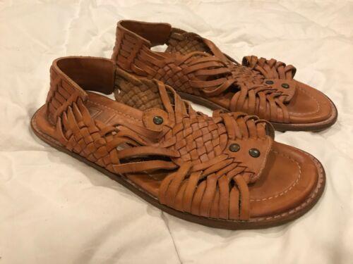 Frye  Brown Leather Woven Huaraches sz. 9.5!