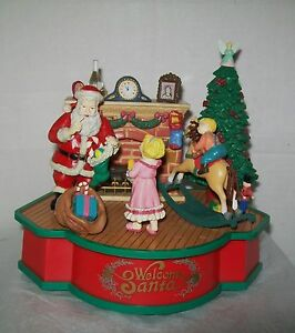 RARE Enesco Ye Olde Toy Stand Multi-Action//Lights Music Box MIB