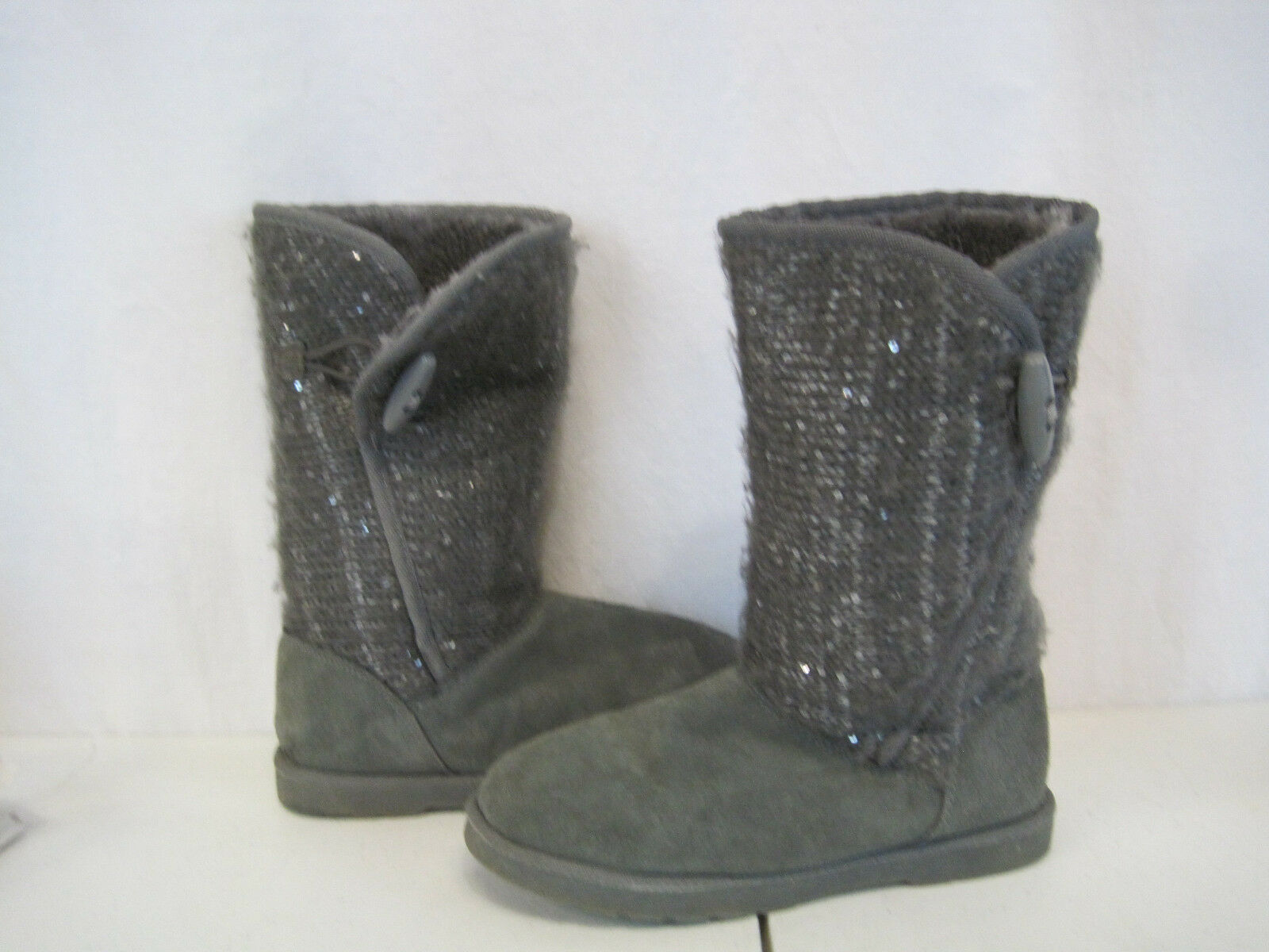 Canyon River Blues Grey Sweater Boots Single Dongle Tie Size 4 (YC-0235)