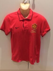 Manchester United Polo Shirt Chevrolet Red Devils Large Youth Size Soccer Uk Ebay