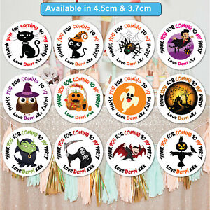 Personalised-Halloween-Stickers-Labels-Sweet-Cone-Spooky-Birthday-Party-Q24-amp-35