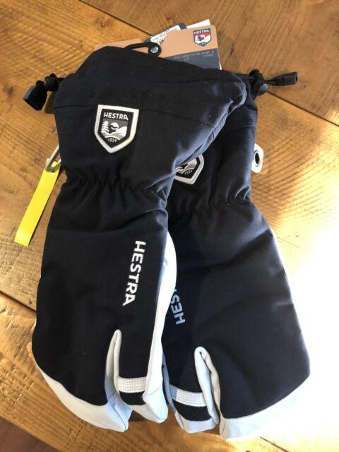 2020 Men S Hestra Army Leather Heli 3 Finger Ski Gloves Size 9 Red
