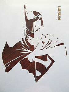 Batman vs Superman Stencil Reusable 10 mil Mylar Stencil