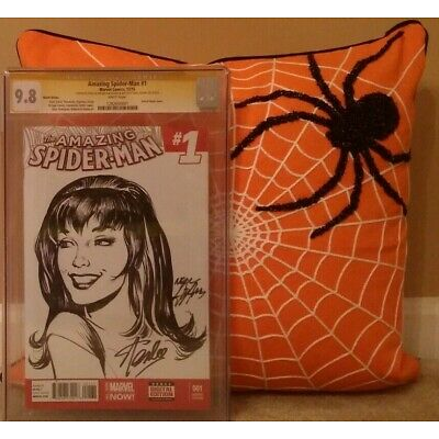 AMAZING SPIDER-MAN:#1 CGC 9.8 SS STAN LEE;SIGN & SKETCH NEAL ADAMS; MARY JANE 59