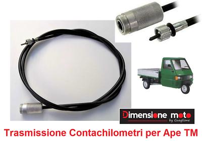 0850 - Trasmissione Contachilometri/tach. Per Piaggio Ape Tm P703 Fl Dal 1997 >
