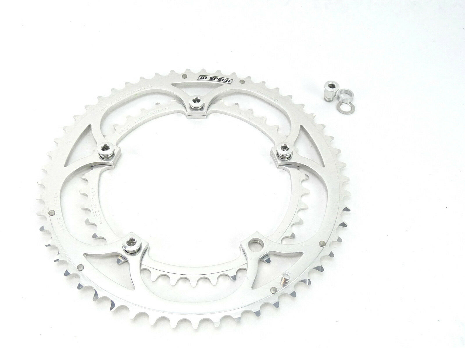 Campagnolo Record 10 speed Chainring set  53 39T Road Bike 2000 w bolts NOS  the classic style