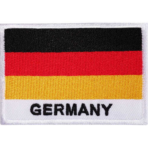 Sew On Patch Deutschland German Shirt Bag Badge Germany Flag Embroidered Iron