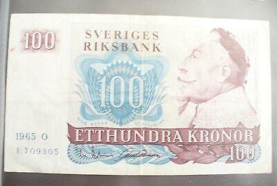 Ancien Billet - 100 Kronor SuÈde 1965 - Etat Ttb+ !!! Te Koop