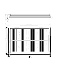 iLoad Satellite H 200// i800 SB2197 Air Filter for HYUNDAI H-1//H-1 Starex