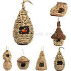 Handwoven Straw Bird Nest House Parrot Hatching Breeding Natural Pet Grass Cave