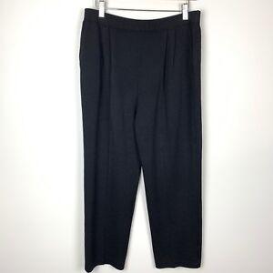 St John Basic Black Santana Knit Pants Women/'s Size 4 Straight Leg