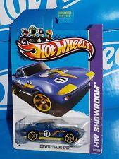 Hot Wheels 2013 HW Showroom Corvette 60th #210 Corvette Grand Sport Blue