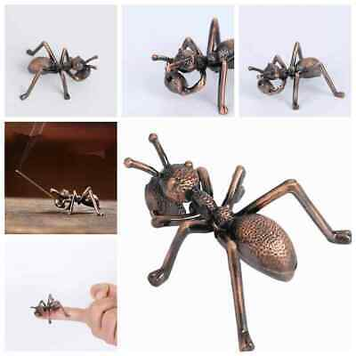 Old Chinese Bronze Copper Fengshui Wealth Animal Figure Ant Statue Home Decor