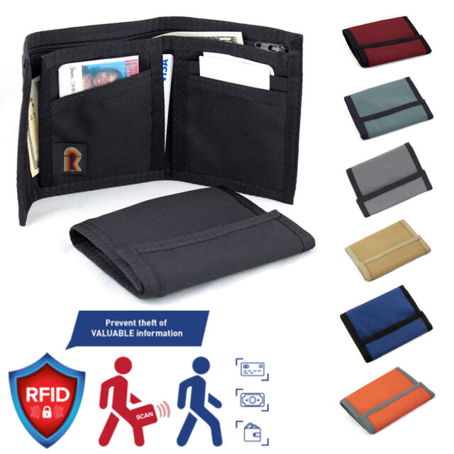 e98a90a7a3 Made in USA Rainbow of California ID Trifold RFID-Blocking Panel Mens Wallet
