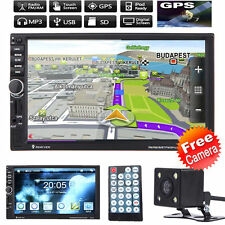 """7"""" Double 2Din In Dash Car MP3 MP5 Radio Player GPS Navi Touch Bluetooth +Camera"""