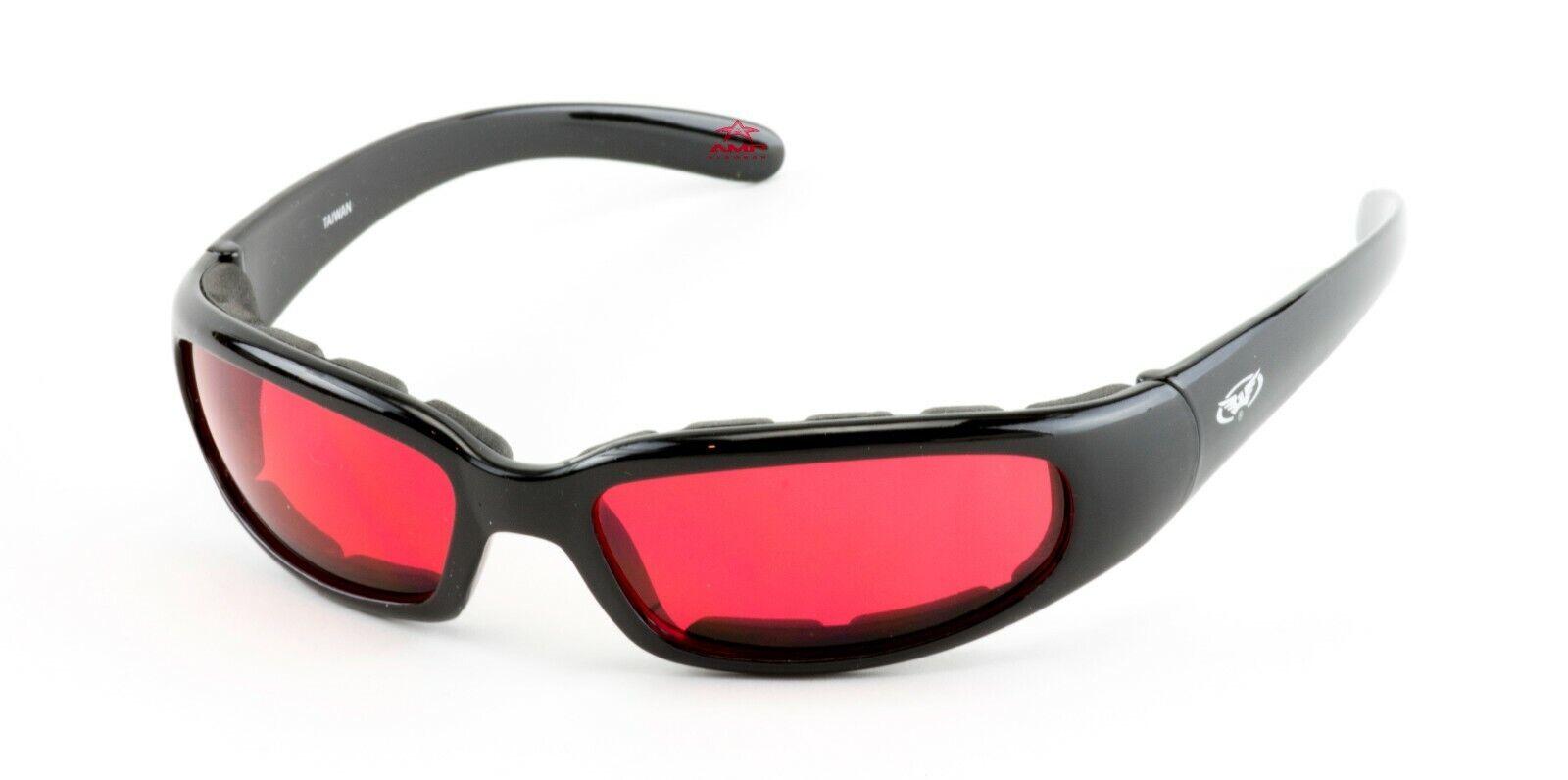 Global Vision Chicago Rojo Lentes Brillante / Negro con Espuma Acolchada Sol