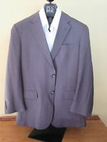 $555 Jos A Bank Executive Olive Herringbone Pattern 2 Button Jacket 42 Long