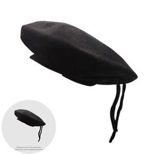 Fashion or Fancy Dress New WOOL Mens Ladies Black Beret Hat Cap Army Military