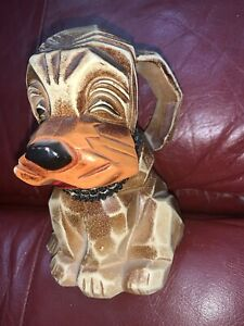 Napcoware Hound Dog Puppy Bank M-6915 Made in Japan vintage Napco