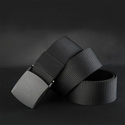 New  High Quality Material Tactical Waist Army Military Belt Canvas Nylon Male