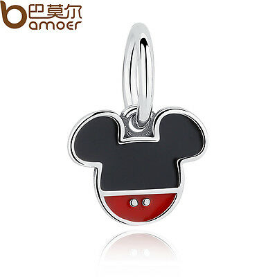 Bamoer Authentic S925 Sterling Silver Charm Pretty Mouse Fit Bracelet For Women