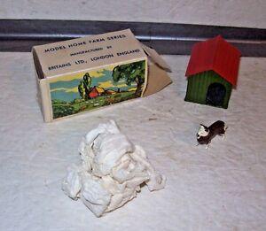 BOXED Britians Farm Lead Figure Set #5015 1 Dog Kennel, 1 Dog