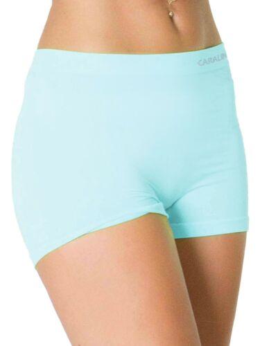 Femmes Sous-Vêtement Uni Taille Haute sans Couture Stretch Short Boxer S M L XXL