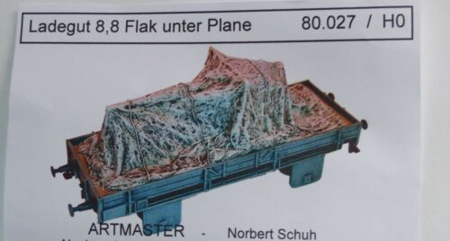 Artmaster 80.027 enormemente 8,8 Flak bajo lona h0 1:87 resin desmontan