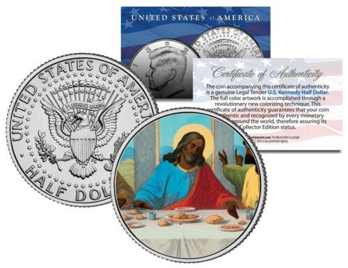 JESUS African American LAST SUPPER Black JFK Kennedy Half Dollar Colorized Coin
