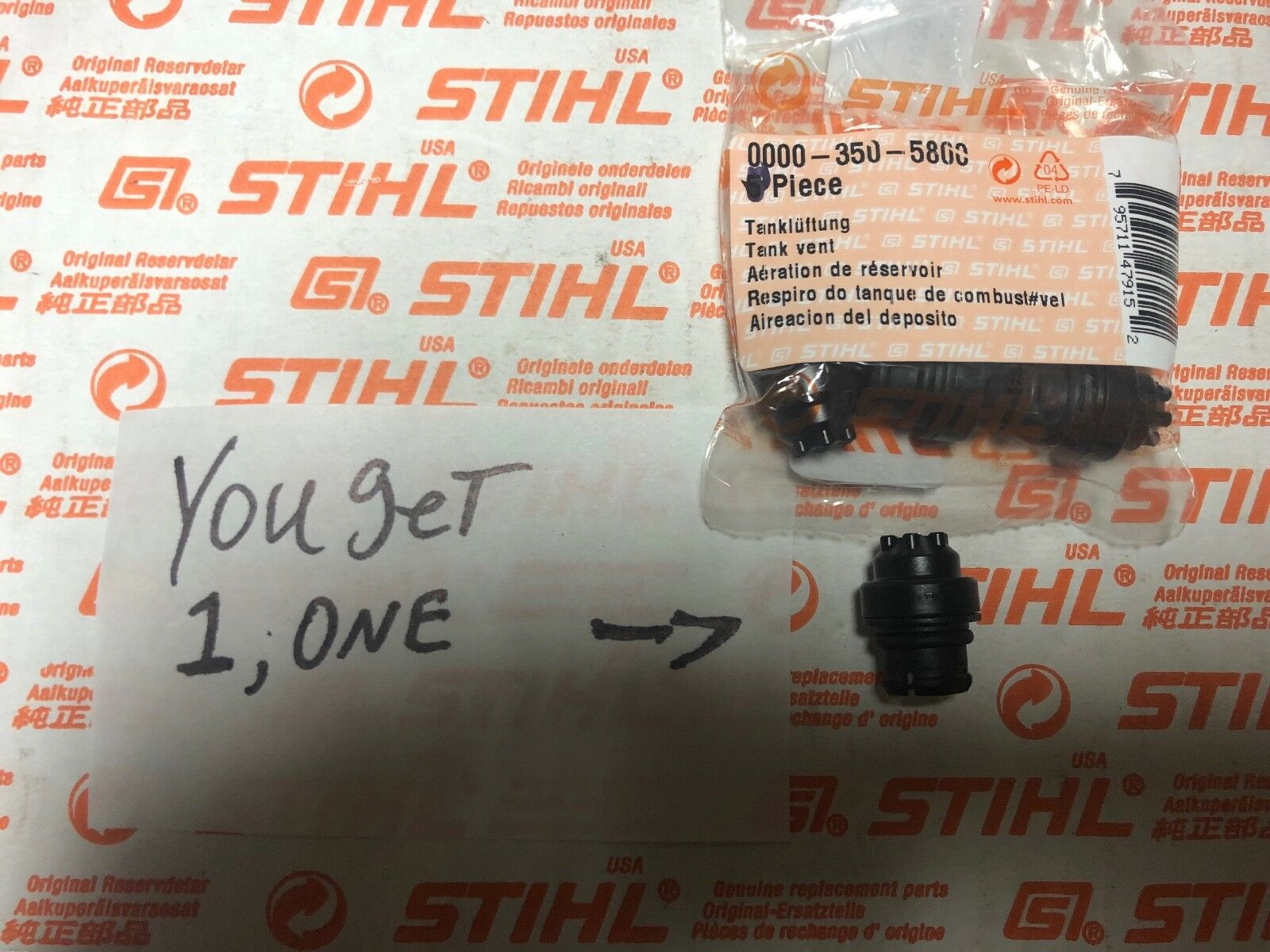 2X GAS FUEL TANK VENT FOR STIHL MS260 MS360 CHAINSAW REPLACE OEM 0000 350 5800