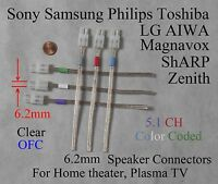 6c 6.2mm Speaker Connectors Made For Select Sony Samsung Lg Philips Ht/plasma Tv