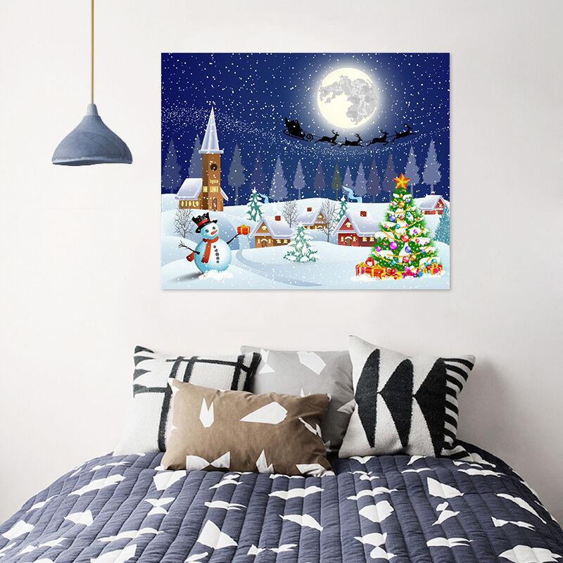 3D Schneemann Baum Mond Haus 75 Fototapeten Wandbild BildTapete AJSTORE DE Lemon