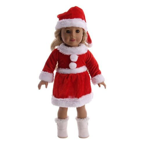 Doll Sweater Clothes Christmas Set Fit 18 Inch American /&43 Cm Born Baby Doll