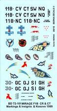 Berna Decals 1/72 DASSAULT MIRAGE F1CR & MIRAGE F1CT French Jet Fighters