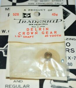 Tradeship-Delrin-40-Tooth-Crown-Gear-48-Pitch-1-8-034-Axle-Slot-Car-NOS-40T-528