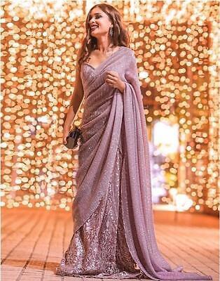 Sari Saree Indian Designer Wear Wedding Pakistani Blouse Party Bollywood New Ebay
