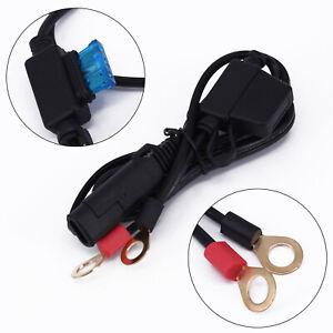Batterieladegerät Kabel Anschluss Motorrad Adapter 10a Sicherung Verbindung Für