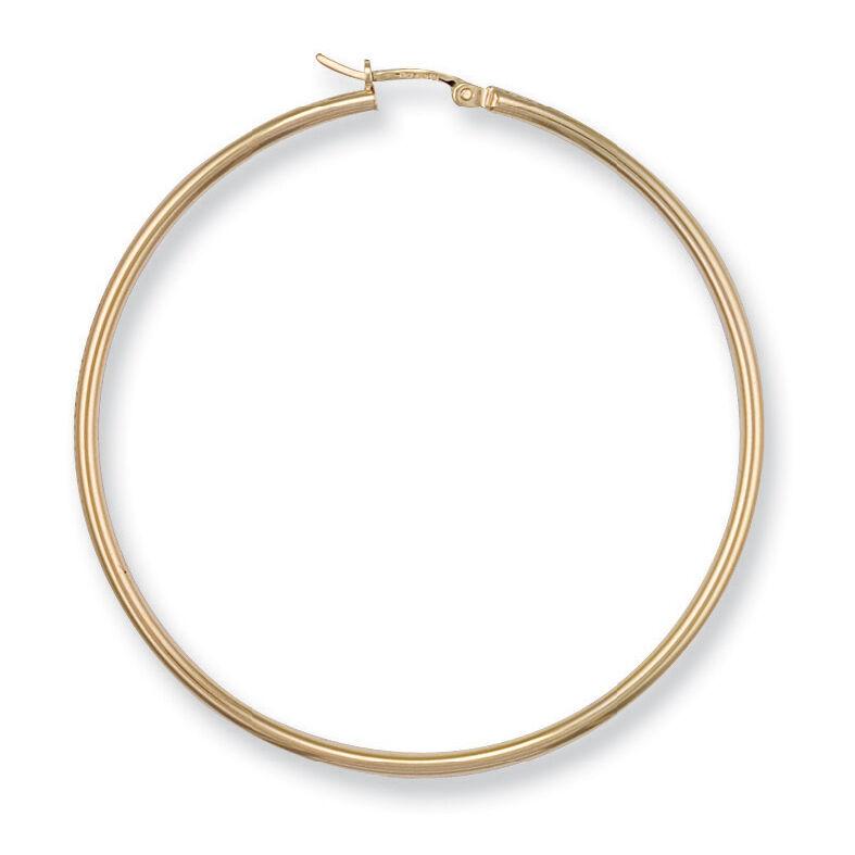 375 9ct Yellow gold Large Hoop Earrings Pair - Fully Hallmarked,  3 - 4.7 Grams