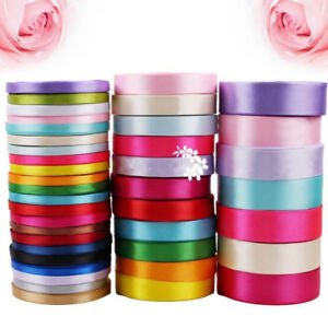 25-Yards-Many-Colors-Satin-Ribbon-Wedding-Birthday-Party-Decoration-Sewing-Craft