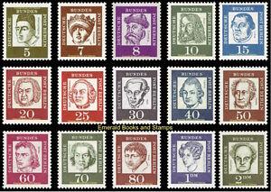 EBS-Berlin-1961-62-Famous-Germans-Bedeutende-Deutsche-Michel-199-213-MNH