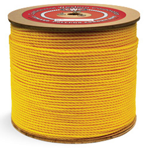 CWC Polypropylene Conduit Rope -  3 8  x 2500 ft., Yellow  factory outlet store